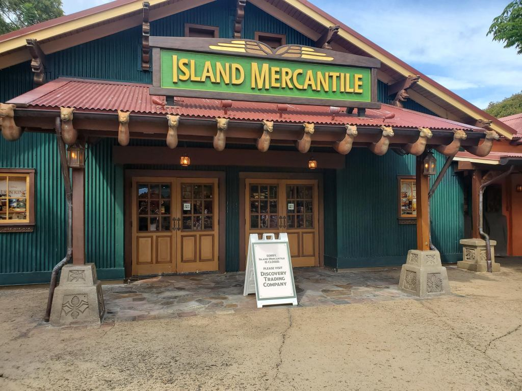 Island Mercantile at Animal Kingdom Currently Closed