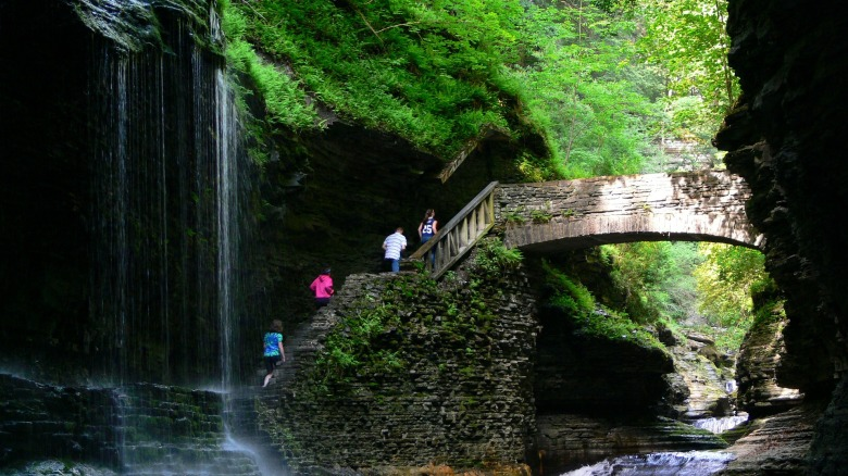 Watkins Glen State Park, New York, Waterfall, scenic,