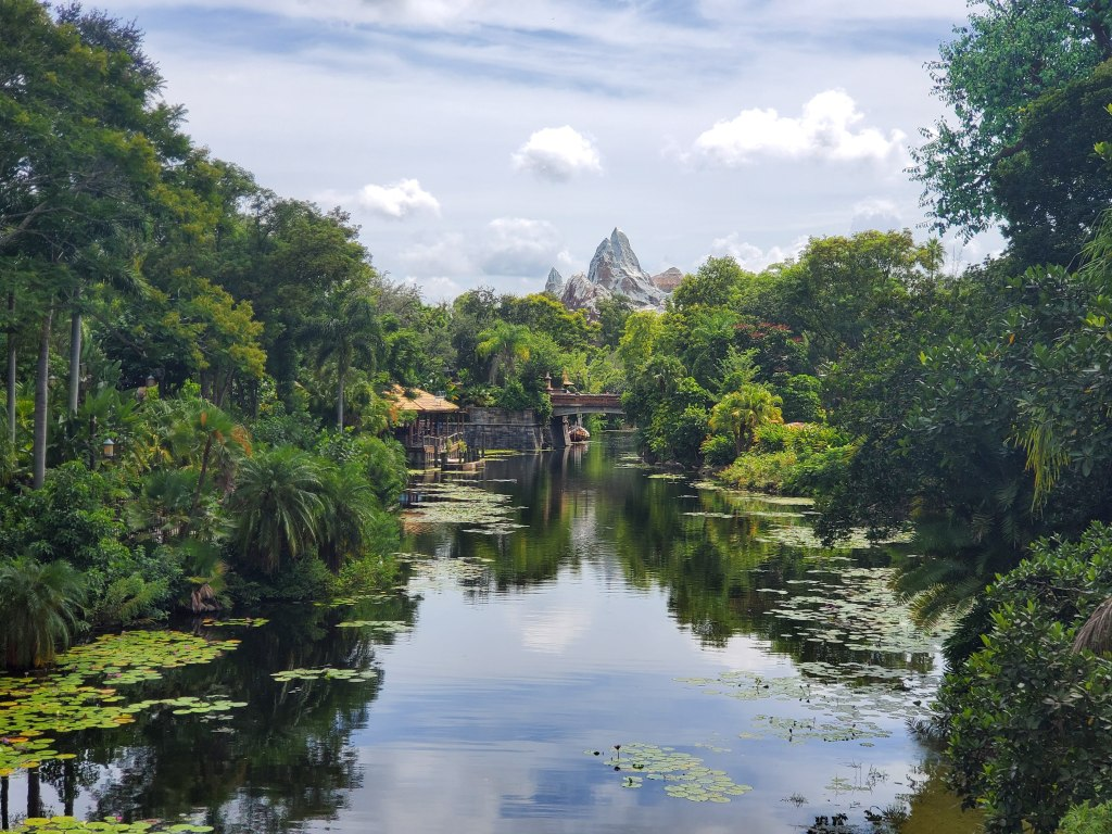 View of Everest at Animal Kingdom from across the water