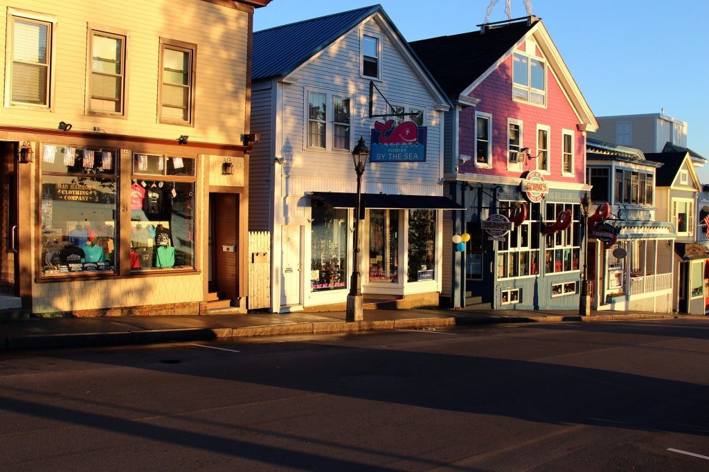 Bar Harbor, Maine, locally owned, main street, small town, USA,