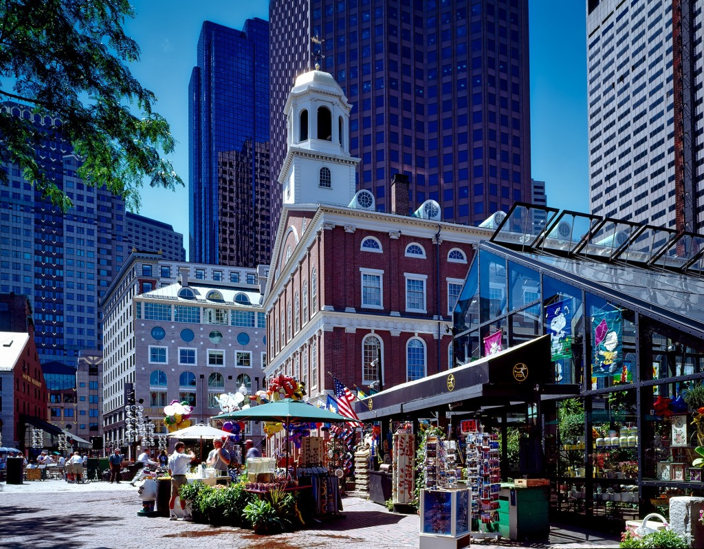 Boston, Massachusetts, Old, city, USA