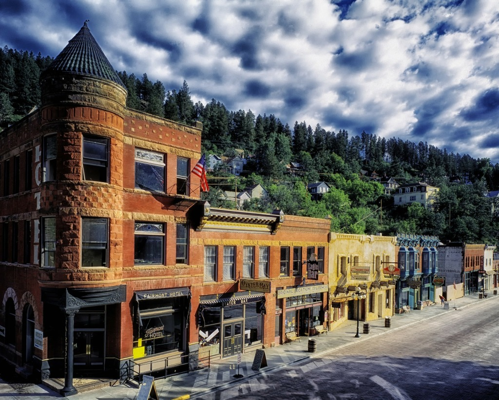 National Historic Landmark, Deadwood, South Dakota, Midwest, Fairmont Hotel, oyster bay, Eagle bar, main street, wild west,