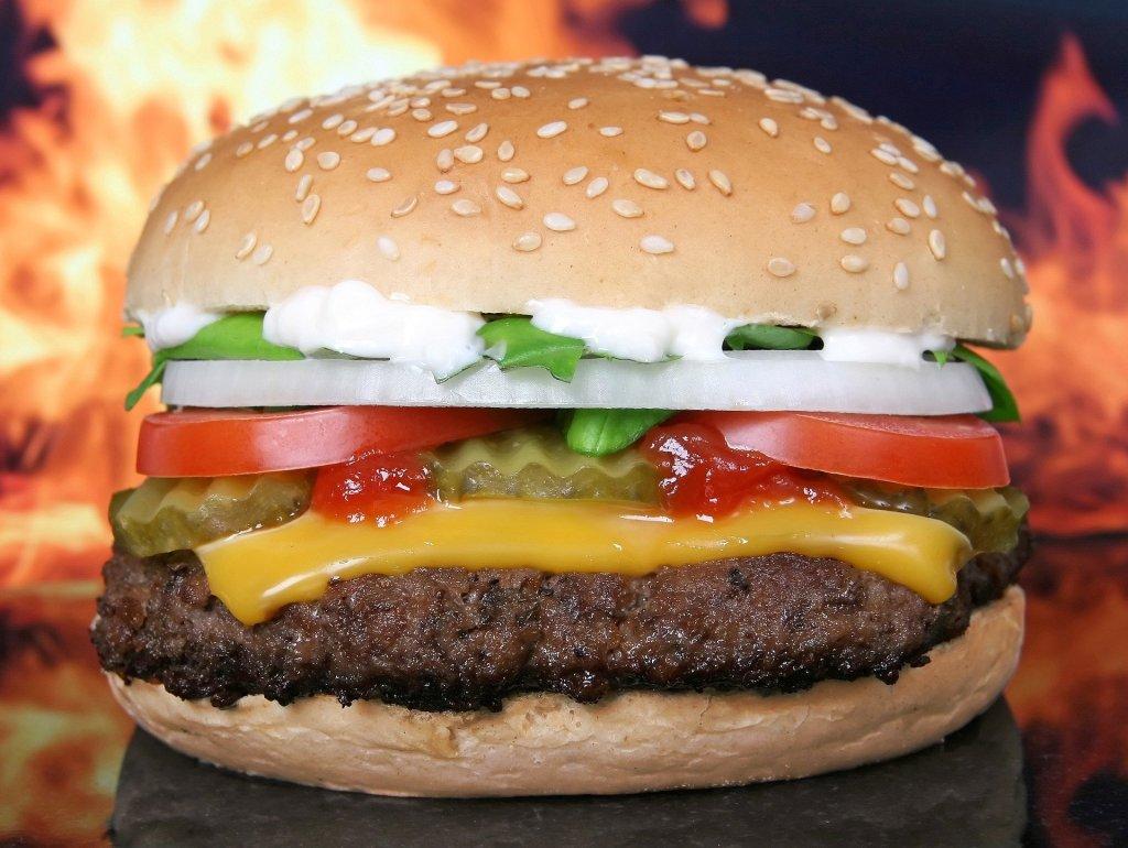 food photography, up close, burger, cheese, bun, onion, juicy,