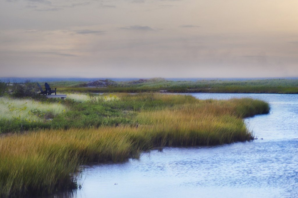 peaceful, scenic, water, marsh, New England, East Coast