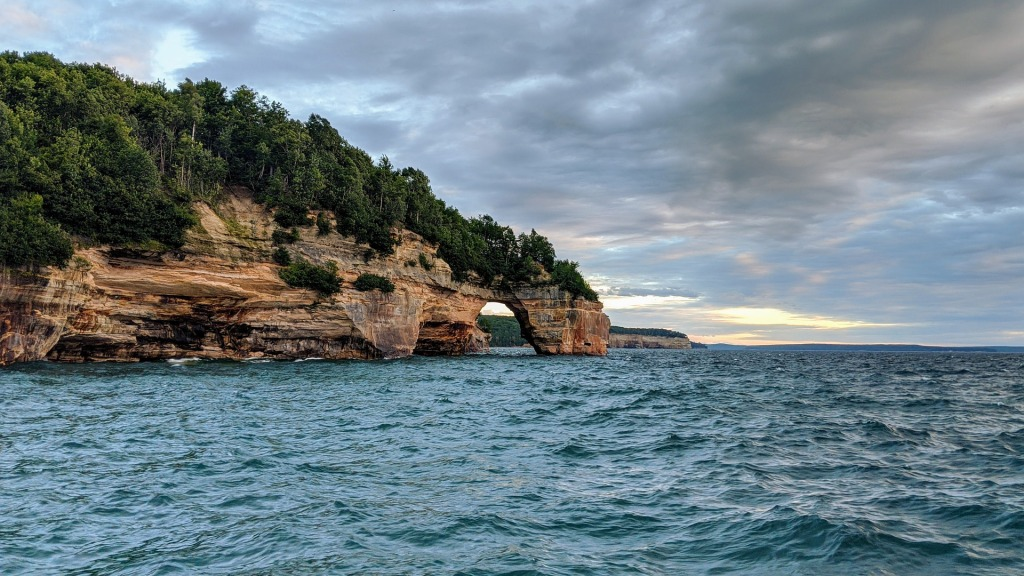 Michigan, Midwest, Pictured Rocks, Lake Superior, Water, Cliffs,