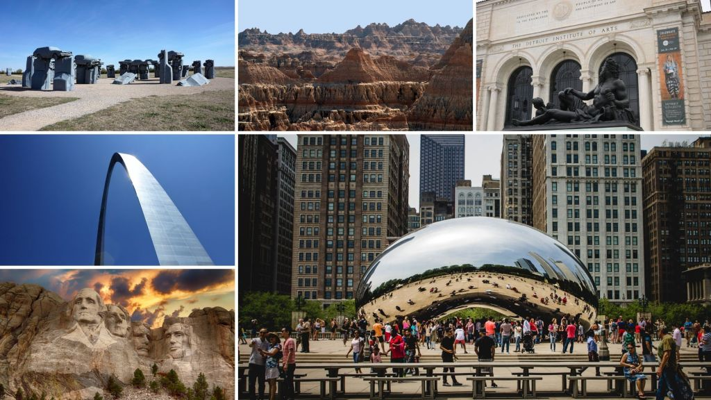 Midwest, United States, Mount Rushmore, St. Louis, Chicago,