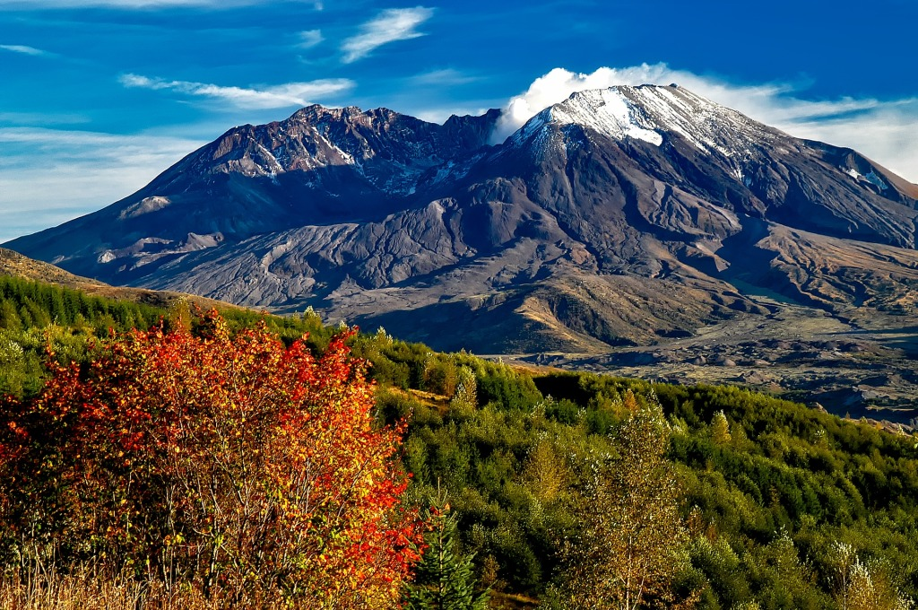 Mount St. Helens, Volcano, erupted, Washington, west coast, crater, climbing,