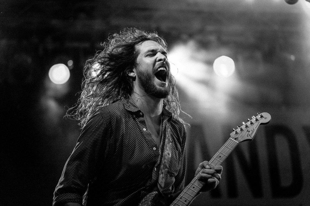 rocker, concert, music, guitar, playing, screaming, singing,
