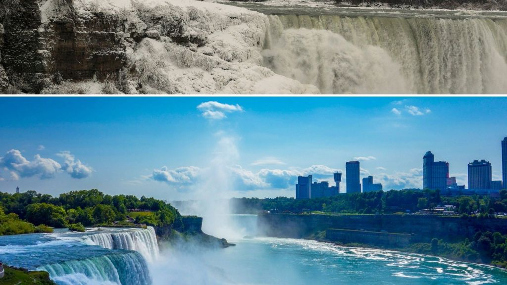 Niagara Falls, New York, east coast, Winter, summer, waterfall
