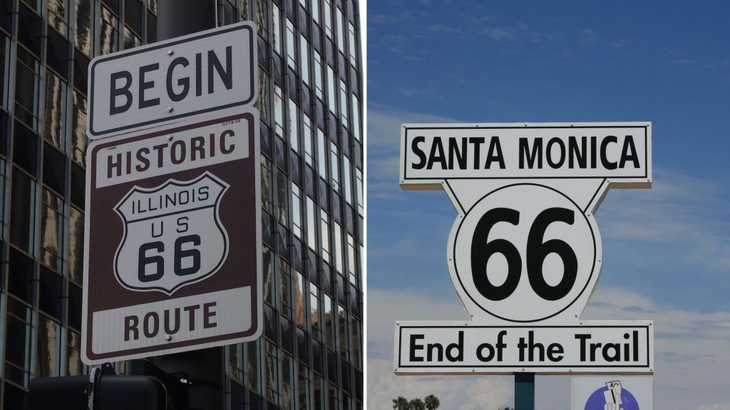 Route 66, Road Trip, Illinois, California,