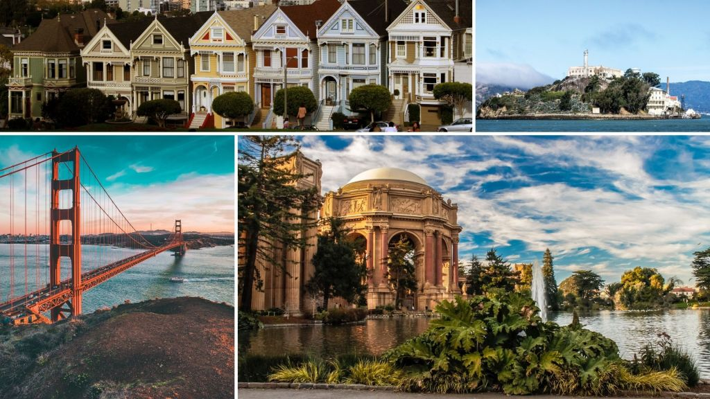 San Francisco, California, Alcatraz Island, Golden Gate Bridge, Full House,