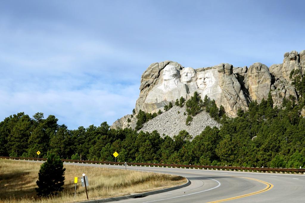 Mount Rushmore, South Dakota, George Washington, Thomas Jefferson, Theodore Roosevelt, Abraham Lincoln, stone, sculpture, Mountain