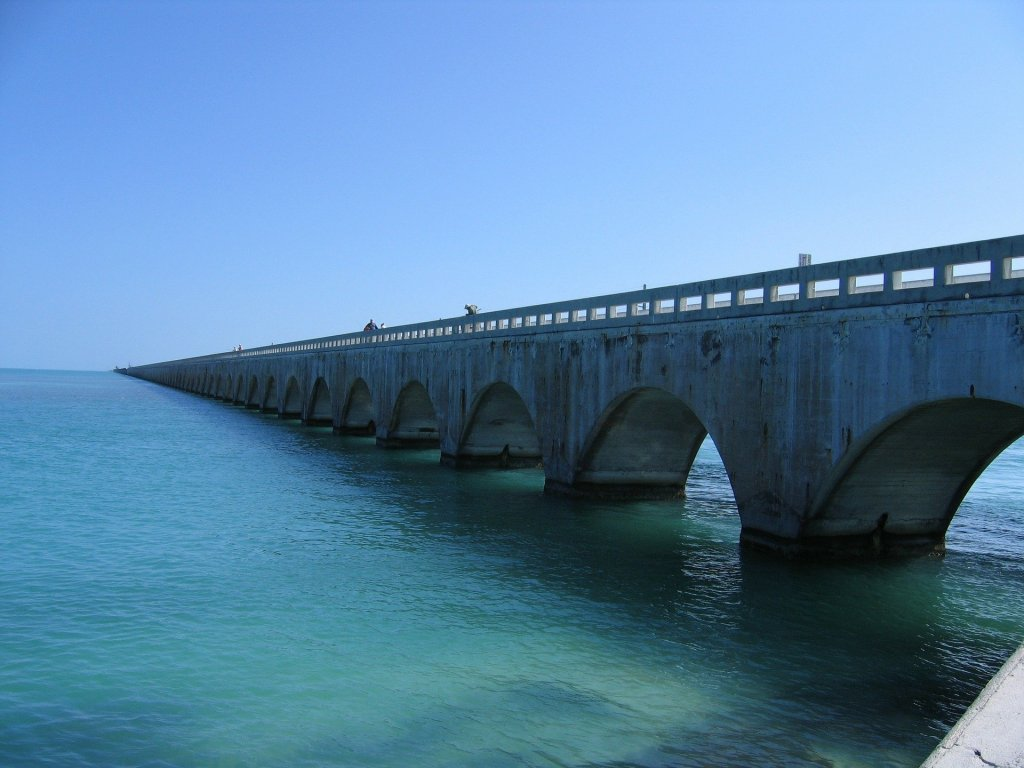 ocean, bridge, Key West, overseas highway,
