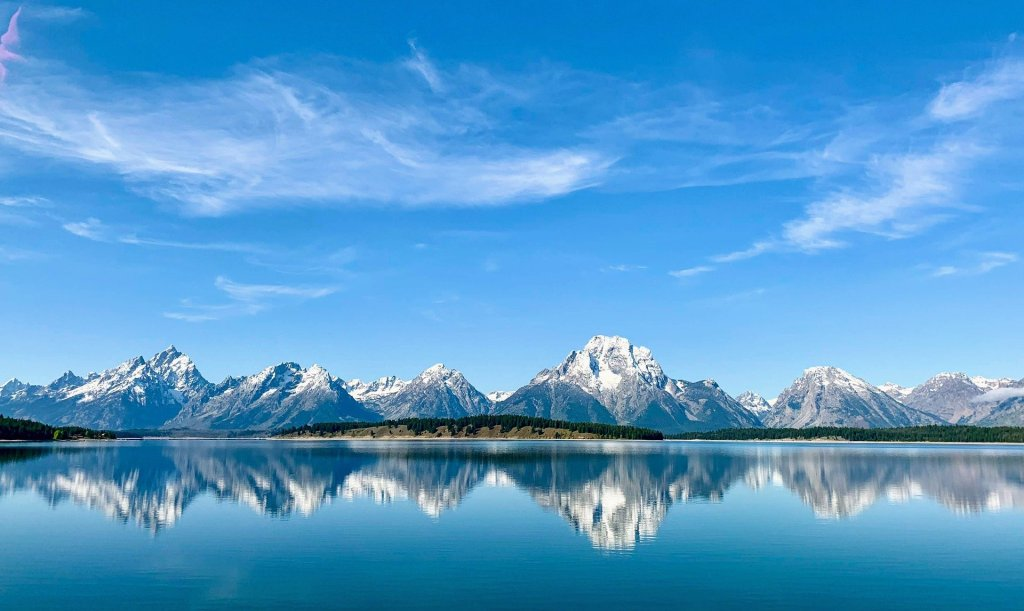 Grand Teton National Park, Jackson, Wyoming, Mountains, Lake, reflection,