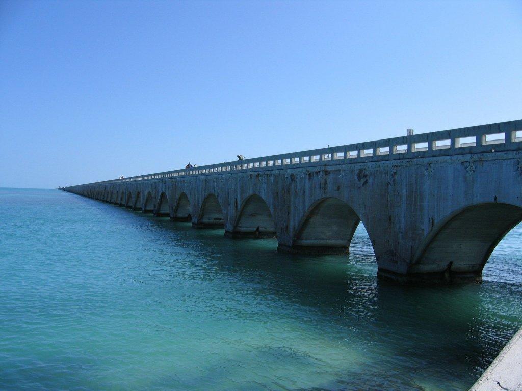 Key West, Florida, Road Trip, Bridge, Water, Ocean, Sea,