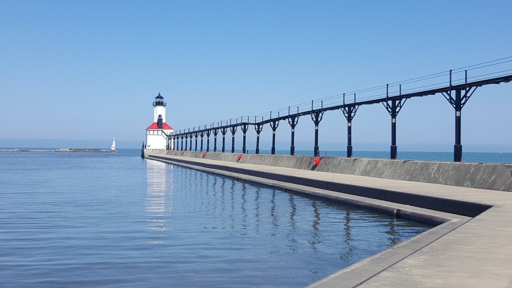 Lake Michigan Lighthouse, Michigan City, Indiana