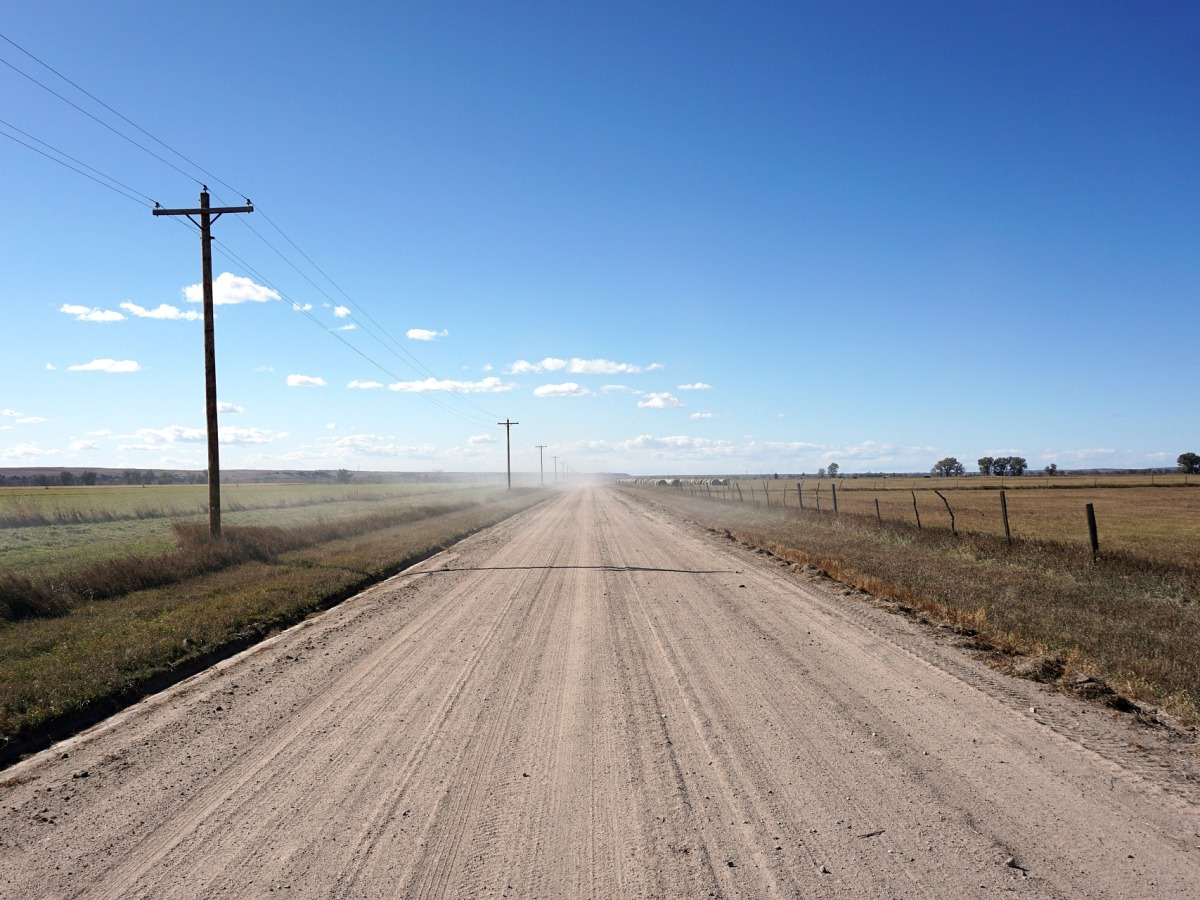 road trip, midwest, dirt road, travel
