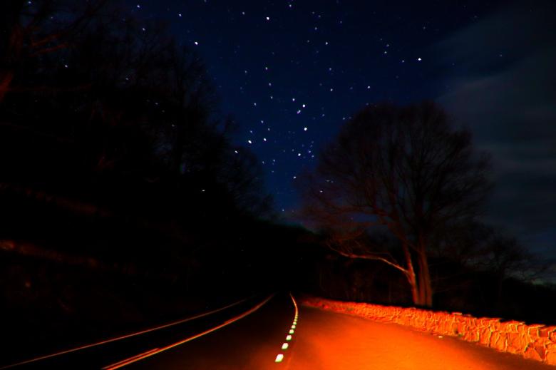 astrophotography, dark skies, stars, skyline drive,