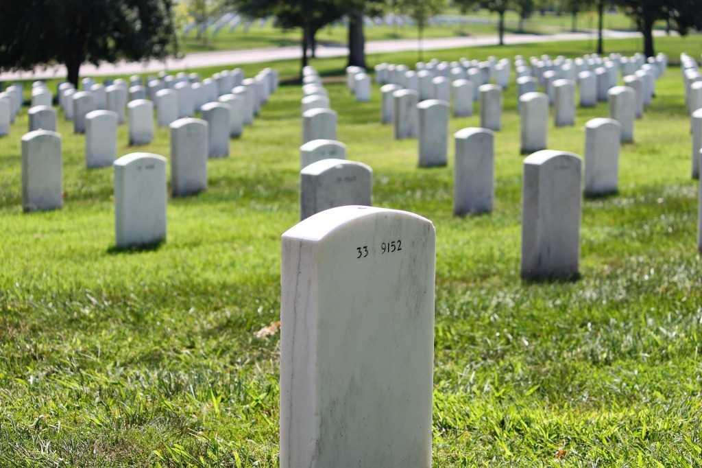 Arlington National Cemetery, Virginia, War time veterans,