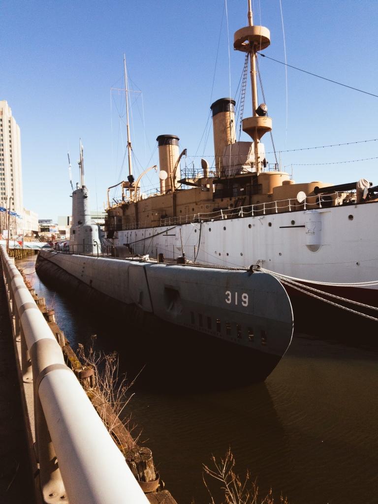 Seaport Museum, Cruiser Olympia, Becuna Sub, Philadelphia, Philly, Penn's Landing,