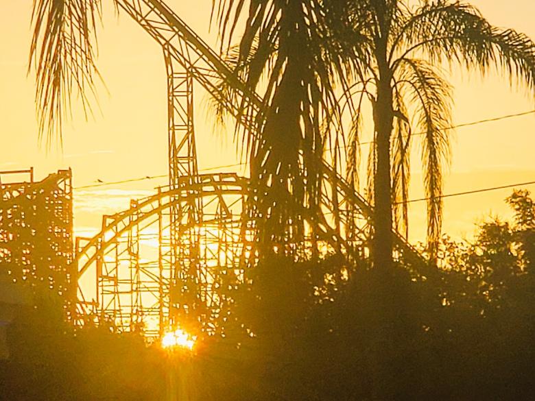 sunrise over Busch Gardens Tampa