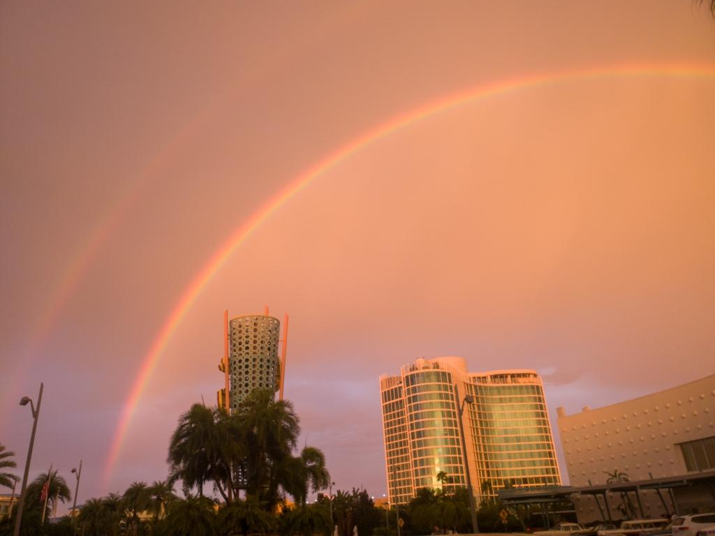 double rainbow, cabana bay, Universal Orlando Resort