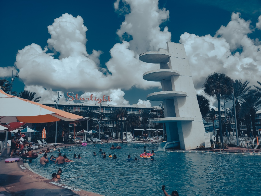 Cabana Bay pool, universal resort, Florida Hotel