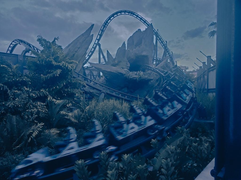 Jurassic Park, Velocicoaster, roller coaster, thrill ride, Islands of Adventure, Universal Orlando